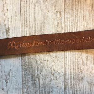 Super Cool V T G McDonald's leather Belt